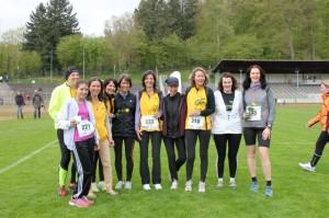 Die erfolgreichen LT-Teilnehmerinnen: Petra, Catherine, Marina, Pia, Claudia, Beate, Daniela, Corinna, Birgit, Sabine (von links)