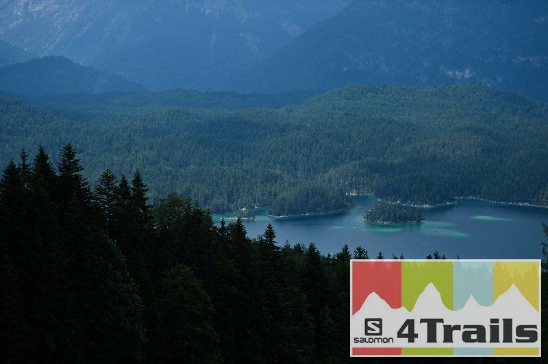 Blick auf den Eibsee bei der ersten Etappe des 4 Trails