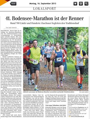 Zeitungsbericht 41. Bodensee Marathon