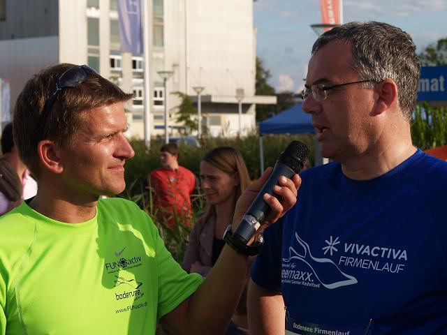 Thorsten Frahm im Gespräch mit OB Jörg Schmidt