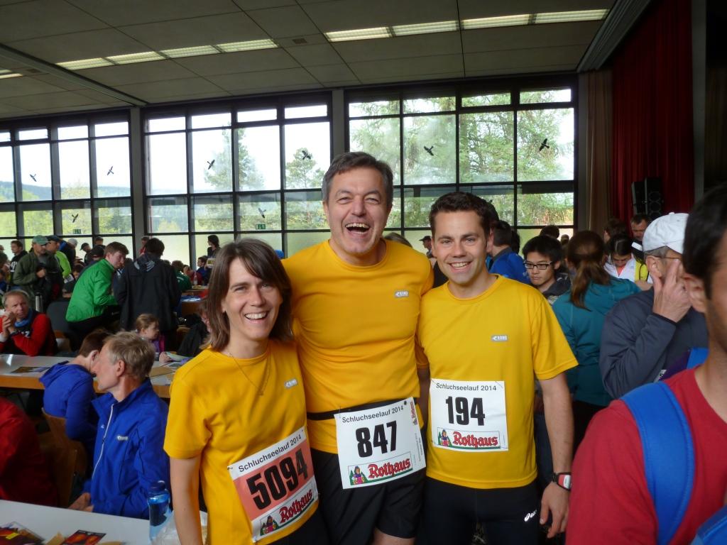 Claudia, Klaus und Johannes freuen sich auf den Lauf!