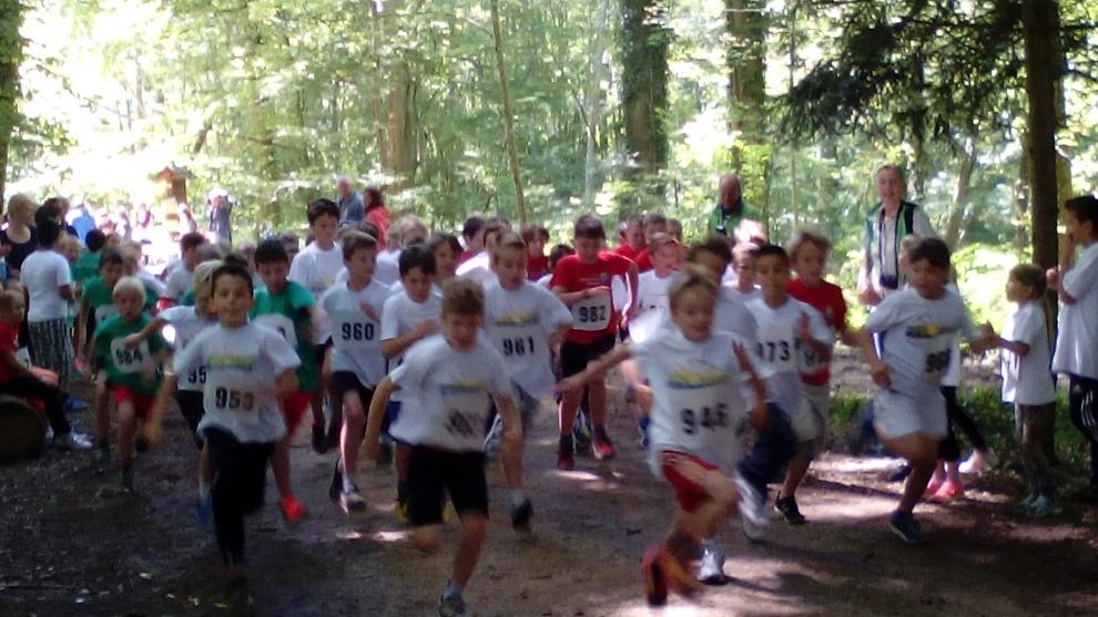 Sichtlich Spass hatten die Kinder beim Lauf durch den Altbohlwald
